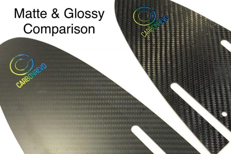Carbonrevo Mudguard Carbon - Matte & Glossy Finish Comparison